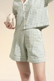 Checked Calandra Shorts