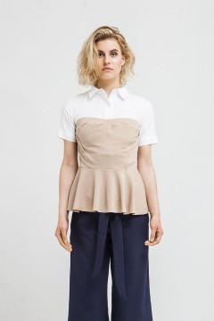 Latte Bailey Peplum Shirt