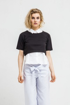 Black Avery Sweater Shirt