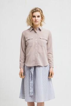 Brown Delia Pocket Shirt