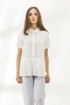 Laine Pleated Shirt