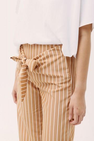 Stripes Tan Chiyo Culotte