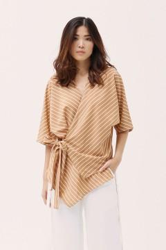 Stripes Tan Ume Kimono