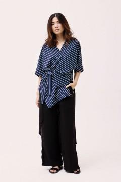 Stripes Navy Ume Kimono