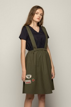 Greta Dungaree Skirt