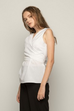 White Pruna Wrapped Top