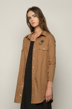 Brown Hala Shirt Dress
