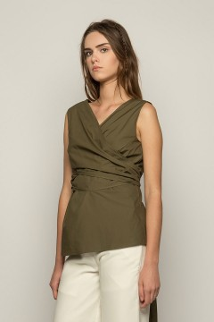 Army Pruna Wrapped Top