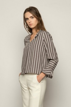 Grey Stripes Gaia Blouse