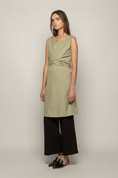 Sage Perla Wrapped Dress