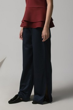 Navy Ulam Slit Pants PO