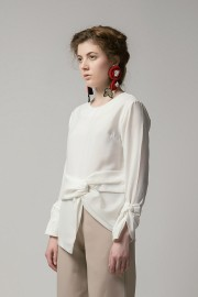 White Mapo Bow Top