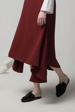 Maroon Yunli Skirt