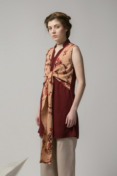 Maroon Sinsa Vest Dress PO
