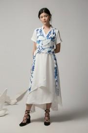White Hanli Wrapped Dress