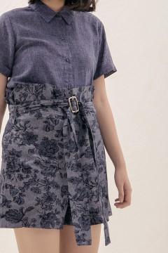 Denim Floral Ula Shorts