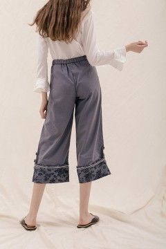 Denim Flower Kana Pants