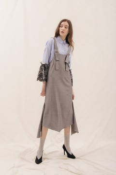 Grey Dera Pinafore Dress