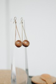 Abba Wood Earrings