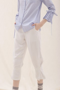 White Peg Pants