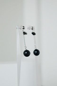 Black Kura Marble Earrings