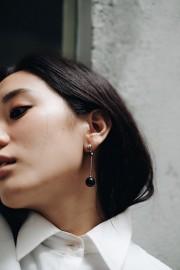 Black Kura Marble Earrings
