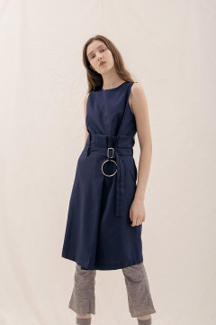 Navy Ona Paper Dress