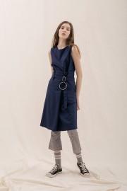 Navy Ona Paper Dress
