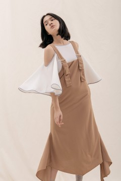 Latte Dera Pinafore Dress