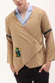 Brown Listed Kimono