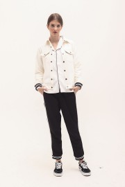 White Two Pockets Jacket