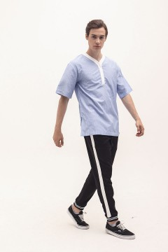 Soft Stripes Collage Shirt