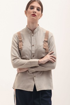 Khaki Buckled Shirt