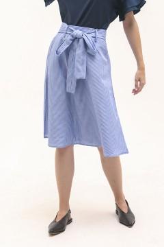 Blue Stripes Keiko Midi Skirt