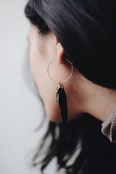 Black Fura Earrings