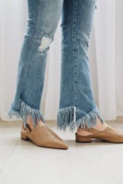 Khaki Pointed Sandals