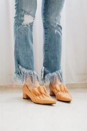 Mustard Frilled Heels