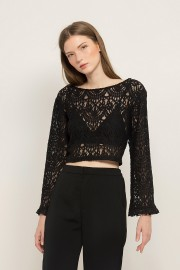 Black Zoe Lace Top