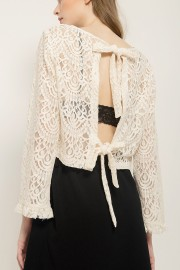 Cream Zoe Lace Top