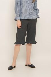 Grey Ruffled Pants