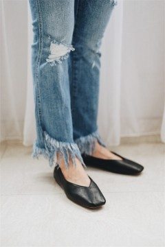 Black Flat Slip On