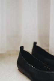 Black Flat Slip On