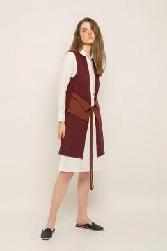 Maroon Eva Vest