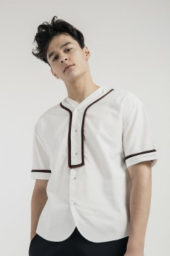 White Luka Baseball Shirt