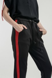Red Listed Jogger Pants