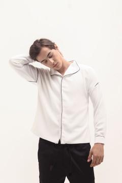 White Pajamas Shirt - Preorder
