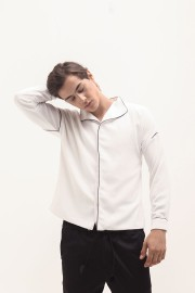 White Pajamas Shirt