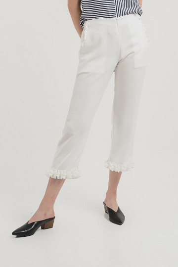 White Lena Pants