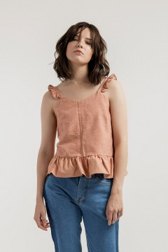 Salmon Sophia Top