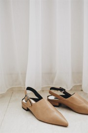 Khaki Pointed Sandals
